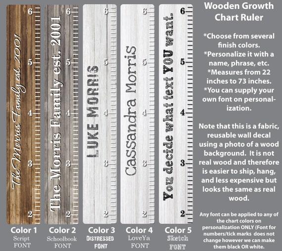 wooden growth chart ruler height chart wall decals growth chart stickers wood rulers wro