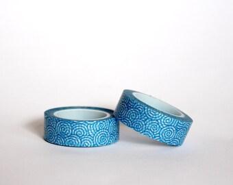 Blue Spiral Waves Washi Tape