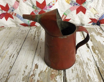 Vintage Retro Red Oil Can A Great Industrial Barn Farm Find