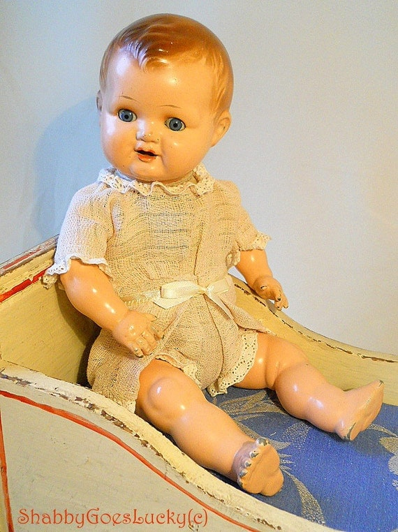 Vintage Horsman Vinyl Cloth Body Bye Lo Baby Doll