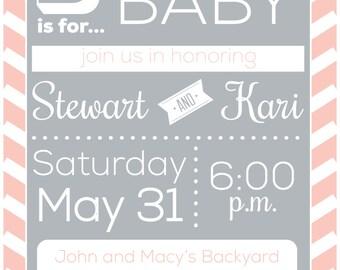 Baby BBQ Shower Invitation