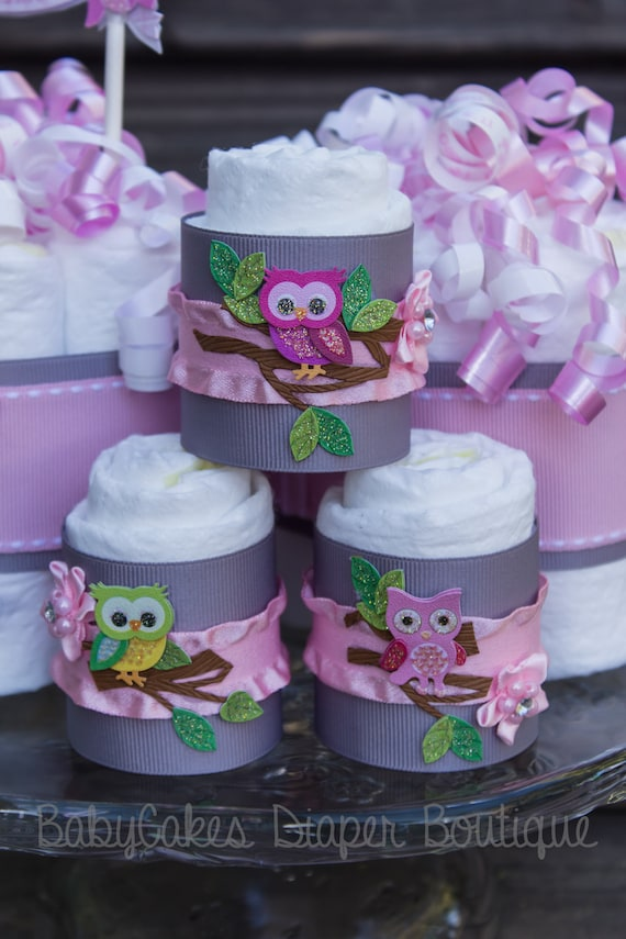 gray pink owl baby shower cupcakes owl baby shower decorations