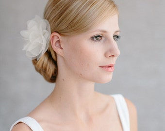 "Bridal Silk Flower, Wedding Hair Flower, Headpiece - ""Cara"""