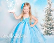 Frozen inspired tutu dress + FREE headpiece. Queen Elsa tutu dress. Elsa tutu dress. Elsa costume dress. Halloween frozen costume