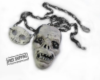 Phantom of the Opera jewelry - universal monster lon chaney - classic horror movie jewelry mask costume psychobilly gothic jewelry deathrock