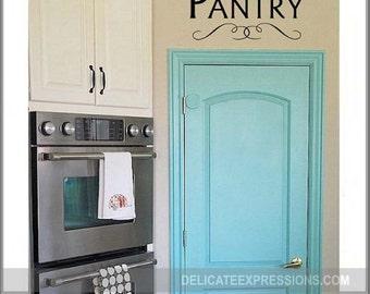 Pantry Door Decal Vinyl Decal Pantry Vinyl Pantry Decal Kitchen Vinyl Decal Kitchen Door Decal Pantry Vinyl Decal Pantry Wall Decal