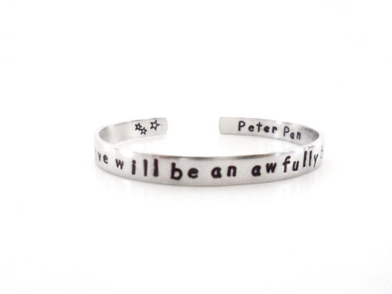 Personalized Bracelet To Live Will Be An Awfully Big Adventure Inspirational Quote Bracelet Customizable