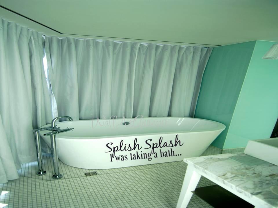 splish splash i was taking a bath bathroom by wallartshowcase. Black Bedroom Furniture Sets. Home Design Ideas