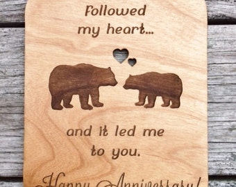 wood cards, wooden cards, wood anniversary,  laser engraved, 4x6, custom, personalized cards, anniversary, Birthday, Wedding, wood card