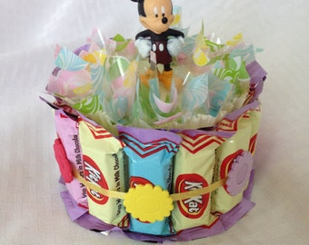 Disney Wedding Gift Basket : Disney Mickey & Friends Chocolate C andy Cake, Favor, Gift Basket ...