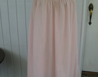 60s / 70s Pink Babydoll Nightgown / L / XL