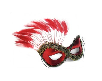 Persuasion Red Women's Masquerade Mask - A-0774R-E