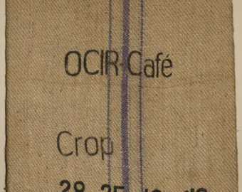 Burlap Coffee Sack Wall Hanging