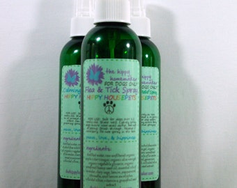 Flea & Tick Spray - Natural Bug Repellent For Dogs - Hippy Housepets - Eco-Friendly Packaging