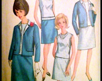 Simplicity 6891  Misses'  And Women's Jacket, Blouse & Skirt  Bust 34""