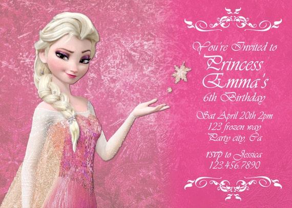 Frozen Invitation Card was good invitation sample