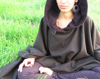 A Mantle for Meditation, Poncho Cloak with Oversize hood