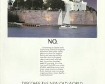 Puerto Rico Travel & Tourism Original 1992 Vintage Print Ad Color Vacation Photo Castillo de San Felipe del Morro; El Morro Fort