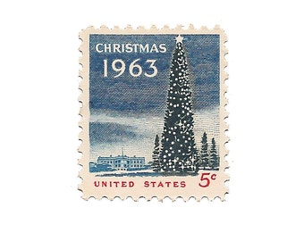 Set of 10  /////  1963 Vintage US Air Mail Stamps Ready to Use