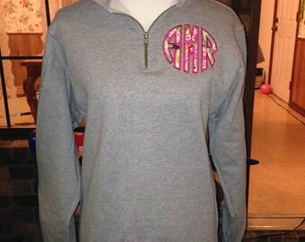1/4 Zip Monogrammed Sweatshirt