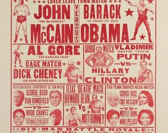Presidential Wrestling Art Print