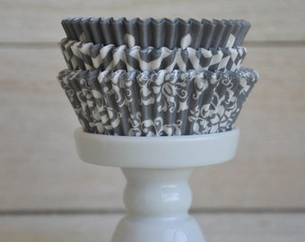 Popular items for grey cupcake liner on Etsy