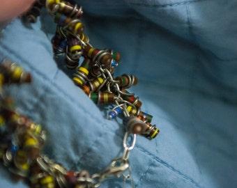 Brown Resistor Cluster Bracelet