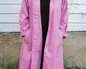 Vintage Dusty Rose LondonFog Long Coat