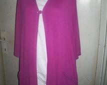 Plus Size Tunic,Boho Tunic, Bohemian, Oversized Tunic, Blazer Tunic, Pink Tunic, Plus Size Clothing, Long Tunic, OOAK