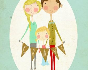 Custom Family Illustration