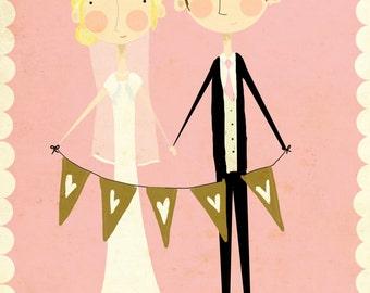 Custom Wedding Illustration