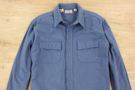 Vintage Usa Made Ll Bean Chamois Flannel Work Shirt By
