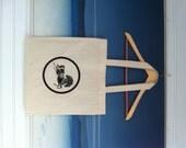 George Harrison Beatles Dark Horse logo cotton canvas tote bag