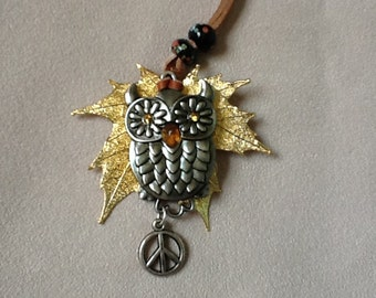 Peace Owl Necklace
