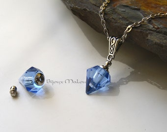 Season 4 Sansa Stark Necklace House Hollard Game of Thrones Blue Crystal Poison Necklace Everyday Open Bottle Necklace