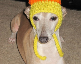 Candy Corn Dog Hat Costume - Halloween hat for cat or dog made to order