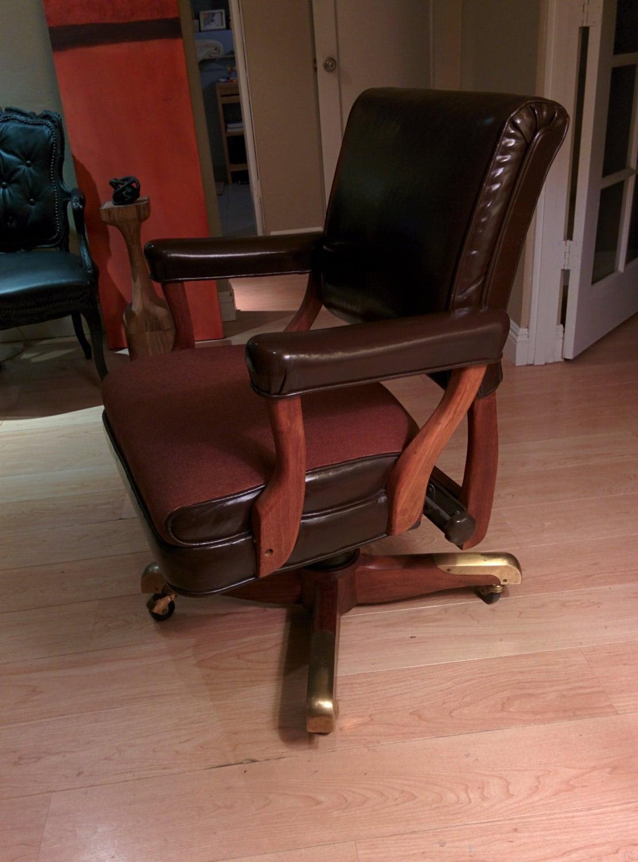 Reserved Vintage Jfk Gunlocke Executive Office Chair 1960s