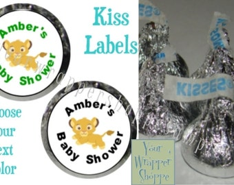 216 Personalized Lion King Baby Shower Party Favors Kiss Labels Stickers Supplies