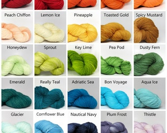Decadent Fingering Weight - 55/45% Superwash Wool/Silk