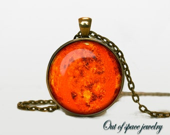 Venus Pendant Venus Necklace Venus Jewelry  galaxy universe space planet