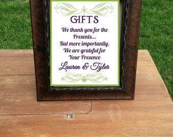 Thank You Sign For Wedding Gift Table : Popular items for wedding gift table