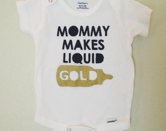 Mommy Makes Liquid Gold - a Breastfeeding Support design by Lula Ball