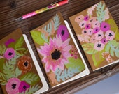 Hand painted floral journals