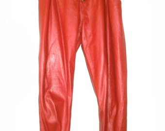 Lucious Red Leather Pants  size 11 /12