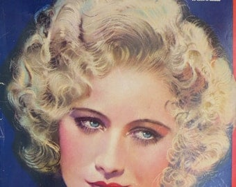 Original March 1932 Miriam Hopkins Photoplay Magazine Cover By Earl Christy - Hollywood's Golden Age