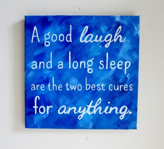 Inspirational quote art wall sayings a good laugh canvas for Good quotes to paint on my wall