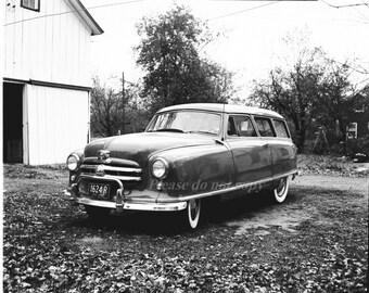 Vintage Photography NEGATIVE~ Old Nash Car