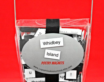 Whidbey Island Washington Poetry Magnet Set - Refrigerator Poetry Word Magnets - Free Gift Wrap