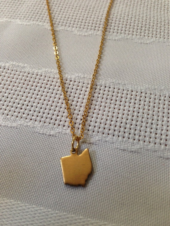 ohio necklace ohio gold ohio necklace ohio jewelry ohio