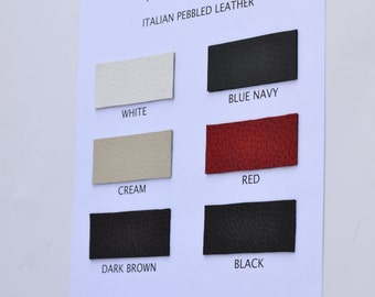 CORYSBAGS leather swatches, leather color card, TORRO leather - Mastrotto Italy